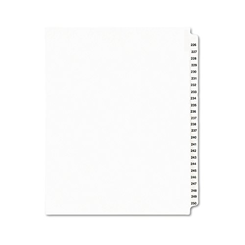 Avery Legal Dividers, Standard Collated Sets, Letter Size, Side Tabs, 226-250 (01339)