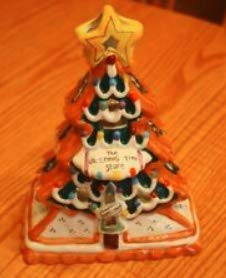 Blue Sky Clayworks Heather Goldminc Christmas Tree with Tealight Holder ()