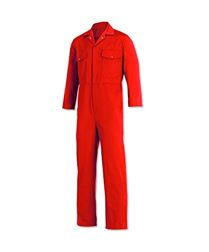 Relaxed Fit Coverall (Alexandra Workwear Unisex Relaxed Fit Coverall Red 44 R)