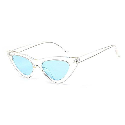Lunettes Hzjundasi soleil Kurt Cobain soleil de Style de Transparent blue Cat Eye Retro Lunettes Vintage Mod qqwCPrEv