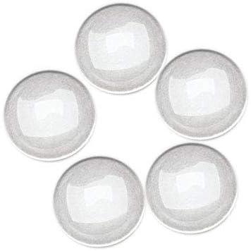 SC15077 Lot 20 Cabochons Dôme en verre rond 14mm à coller