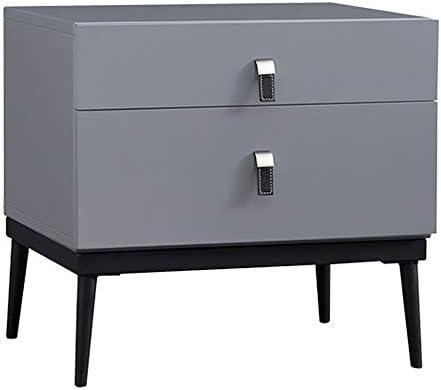 YD ベッドサイドテーブル、モダンなミニマリストの二重引き出しのペンキの完全な寝室のベッドサイドキャビネットの小さなスペース収納サイドキャビネット、のために適した:リビングルーム/ベッドルーム/書斎 (Color : Gray cyan)