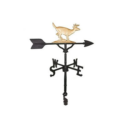 Montague Metal Products 32-Inch Weathervane with Gold Buck Ornament