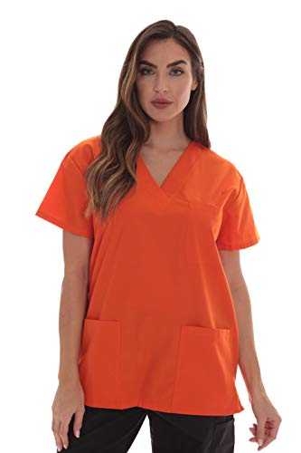 (Just Love Scrub Tops for Women 22000T-Orange-M)