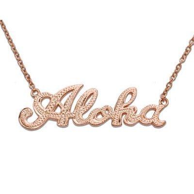 Amazoncom Hawaiian Jewelry Aloha Rose Gold Finish Sterling Silver