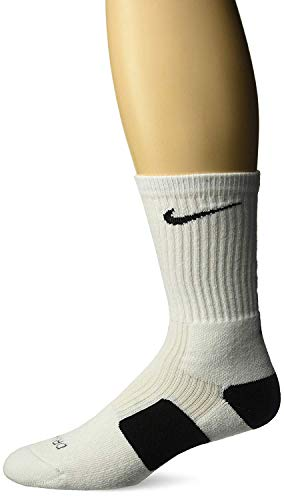 Nike Elite Basketball Crew Socks Black & White (Small) (Nike Youth Elite Basketball Socks)