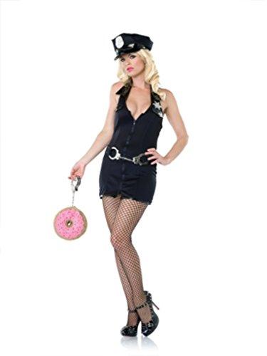 Leg Avenue Womens Police Officer Prison Guard Outfit Fancy Dress Sexy Costume, S/M (2-8) (Police Fancy Dress Women)