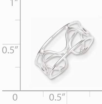 Black Bow Jewelry Wave Toe Ring in Sterling Silver