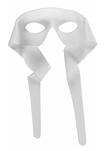[White large Masquerade Tie Mens Mask] (White Ninja Costumes For Kids)