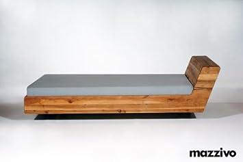 Designermöbel bett  MAZZIVO Designerbett LUGO 120x200 Eiche massiv Überlänge möglich ...