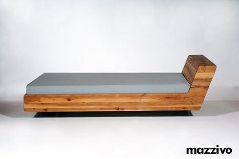 MAZZIVO Designerbett LUGO 180x190 Erle massiv Überlänge möglich ...