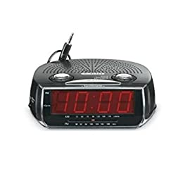 Sunbeam AM/FM Clock Radio Platinum-89019