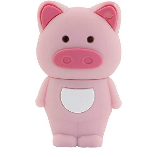 Aneew 16GB Pendrive Cute Pink Pig Animal Model USB Flash Drive Memory Stick U Disk Thumb Gift (Pig Drive Flash)