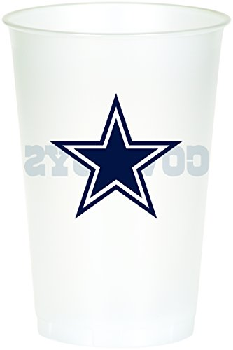 Creative Converting 8 Count Dallas Cowboys Printed Plastic C