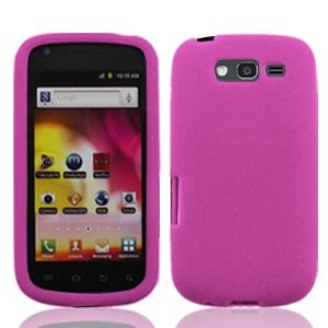 For T-mobil Samsung Galaxy S Blaze 4g T769 Accessory - Pink Skin Silicon Case Proctor Cover + Lf Stylus Pen (T Mobil Cell Samsung Phones)