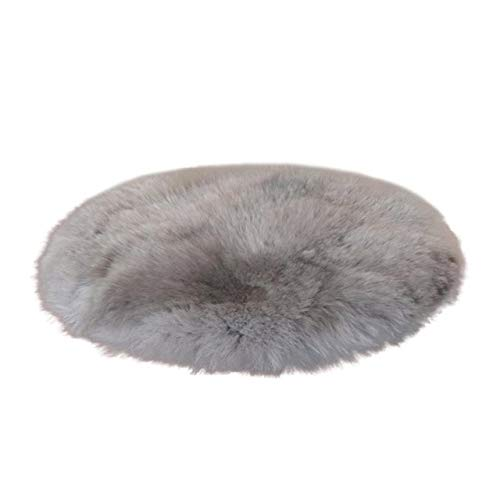 US Warehouse - 45 cm Artificial Wool Sheepskin Rug Chair Cover Warm Hairy Carpet Seat Badroom Set Floor Carpet Stripes Rug Decora o Home Decor - (Size: See Below for Size descriptions, Color: Gray) from DAVITU
