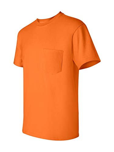 Gildan Ultra Cotton - Short-Sleeve T-Shirt with Pocket. 2300 - Medium - Safety Orange