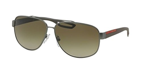 Sunglasses Prada Linea Rossa PS 58 QS DG11X1 GUNMETAL - Prada Sunglasses Aviator Womens