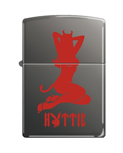 Zippo Playboy Hottie Pocket Lighter, Black Ice