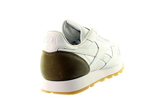 Reebok Classic Leather BXR Born X Elevador v66670Hombre Zapatillas - White, Brown