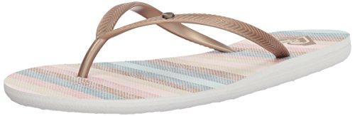 Roxy Women's Bermuda Sandal Flip Flop, Light Gold, ()