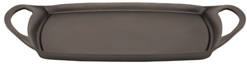 Paderno World Cuisine 18-1/2-Inch by 11 3/8-Inch Aluminum Non-Stick Rectangular Grill, PTFE and PFOA-Free