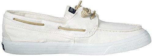 Sperry Damen BAHAM Washed Bootsschuhe Weiß (White)