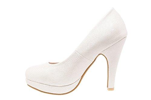 Blanc Pointures Femmes Machado pour Grabado peep am554 Vernis grandes Andres toes SBwq6xSU
