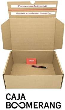 Pack de 10 Cajas de Cartón para Envíos (Caja Doble Envío) de 72 x 35 x 13 cm. Color Marrón. Permite Hacer Dos Envíos en Uno. Mudanzas. Fabricadas en ...