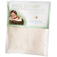 Colgate Eco-Cover | 52L x 28W | Organic Cotton Fitted Crib Mattress Cover with Waterproof Backing | Minimal Shrinkage | Made in the USA