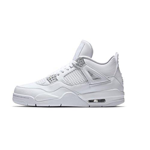 Air Jordan 4 Retro Pure Money Men Lifestyle Sneakers New White - 9.5