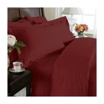 Amazoncom Queen Size Bed Sheets Set Red Burgundy Highest