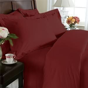 Luxury Full, Burgundy Bed Sheets Set