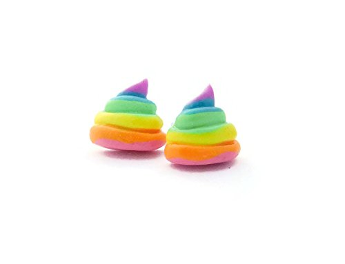 Cute Nerdy Girl Costumes Ideas (Scented Unicorn Poop Earrings with Surgical Steel Posts)