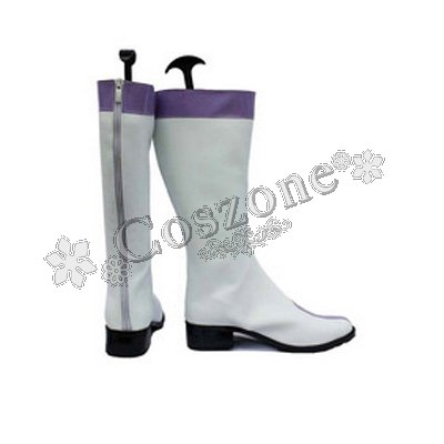 [Japan Cosplay] Fairy Tail Juvia Lockser White Long Boots Japanese Anime Cosplay Shoes 23cm Mens (Faster Delivery)