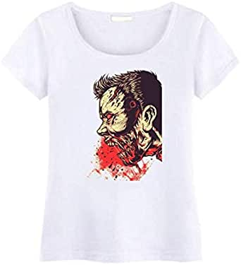 Round Neck Zombie T-Shirt For Women