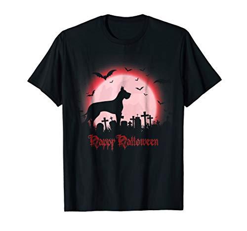 Happy Halloween Great Dane Dog T Shirt