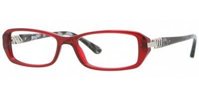 Vogue Vo2709b Eyeglasses W905 Transparent Red Demo Lens 50 16 - Eyeglass Red Vogue Frames