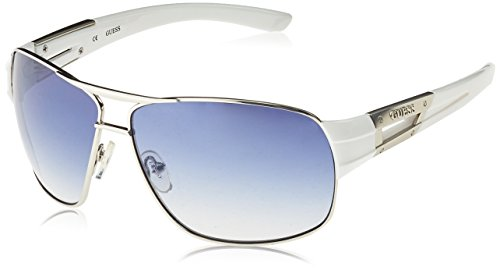 Guess GU6757SI-6548F Gafas de sol, Blanco, 65 para Hombre ...