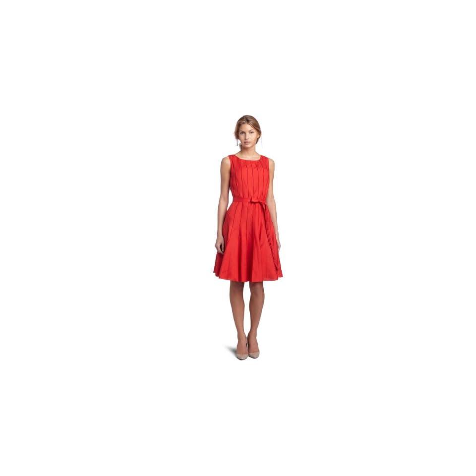 Calvin Klein Womens Linen Dress,Fire,2
