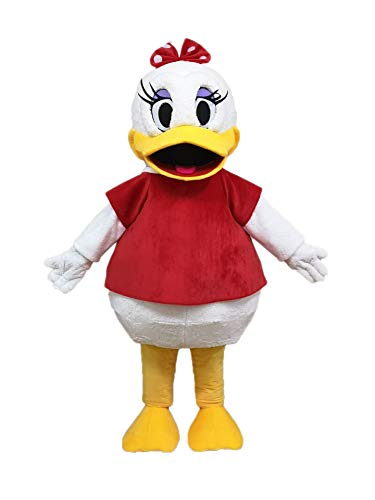 Lovely Adult Size Daisy Duck Mascot Costume for Party Cartoon Character Costumes Deguisement Mascotte ()
