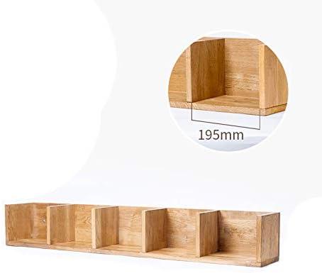 LIYOUPIN Estantes flotantes 5 Rejillas Estantes de Madera Se utilizan para almacenar artículos pequeños en la Sala de Estar, Dormitorio y Oficina (Color Madera),5grid: Amazon.es: Hogar