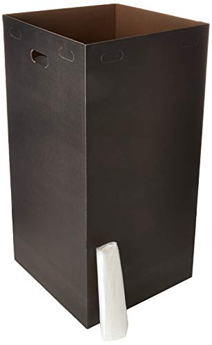 One Earth Disposable and Reusable Corrugated Cardboard Trash Boxes- Bundle of 10 Bins + 10 Trash Bags (Black): 40 Gallons