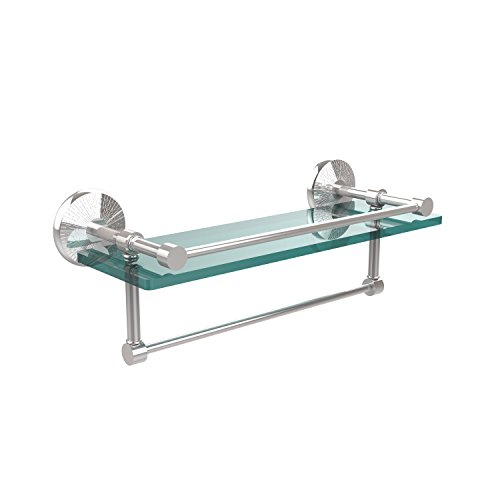 picture of Allied Brass MC-1TB/16-GAL-PC 16-Inch Gallery Glass Shelf with Towel Bar, Polished Chrome