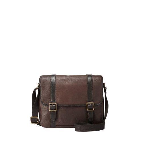 e1415a46fb Mens Fossil Dark Brown Leather Estate EW City Bag: Amazon.ca: Shoes &  Handbags