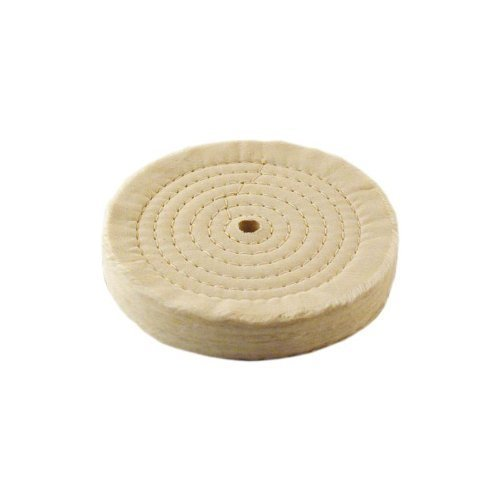 Extra Thick Spiral Sewn Buffing Wheel, 6 (80 Ply) (2-Pack)