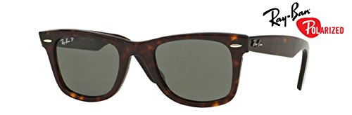 - Ray-Ban RB2140 (902/58) Tortoise/Green Polarized 50mm, Sunglasses Bundle with original case, cloth, booklet and accessories (6 items)