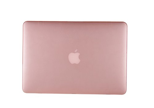 """2 in 1 Macbook Pro 15 Retina Display Case TECOOL® Frosted Matte Snap-on hard Shell Plastic Case Cover Skins and Silicone Keyboard Cover with TECOOL® Mouse Pad for MacBook Pro 15"""" With Retina Display Model: A1398(Pink)"""