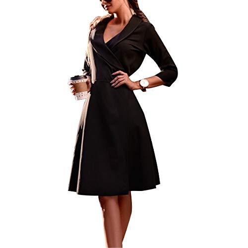 Da Scollo 3 Size 4 Gotfeelin color Black Con A Donna V Cappotto Lungo Xl EXxq8wx4f