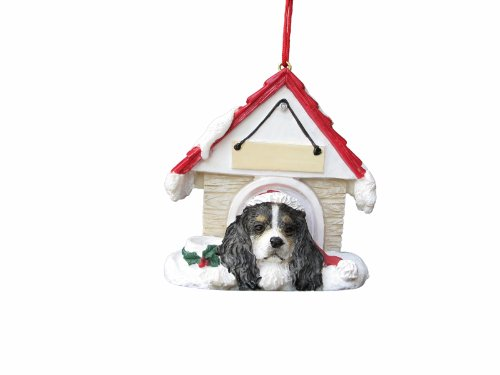 - Cavalier King Charles Spaniel Black  Doghouse Christmas Ornament